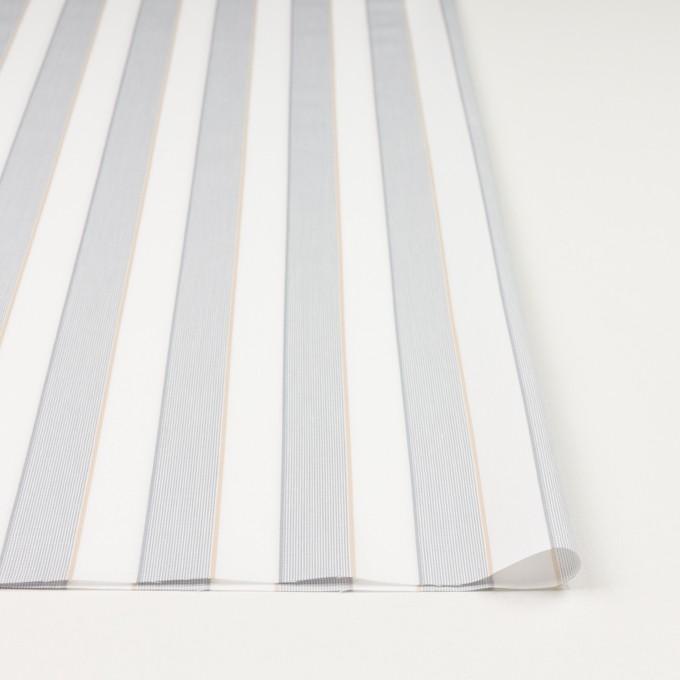コットン×ストライプ(ライトグレー&ベージュ)×ブロードジャガード イメージ3