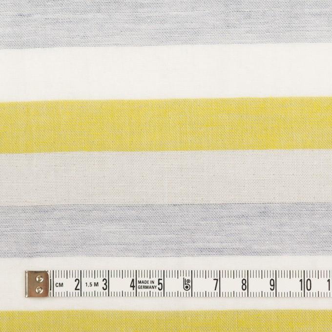 コットン&ポリエステル×ボーダー(イエロー&グレー)×Wガーゼワッシャー イメージ4