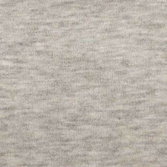 コットン&モダール×無地(杢グレー)×W天竺ニット