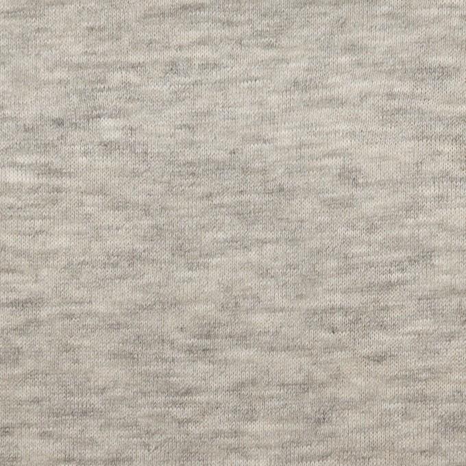 コットン&モダール×無地(杢グレー)×W天竺ニット イメージ1