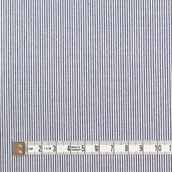 コットン×ストライプ(ネイビー)×コードレーン サムネイル4