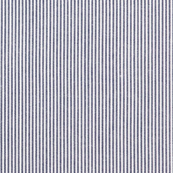 コットン×ストライプ(ネイビー)×コードレーン イメージ1