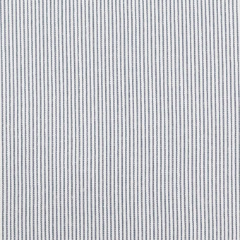 コットン&ポリエステル混×ストライプ(アッシュネイビー)×コードレーン・ストレッチ サムネイル1