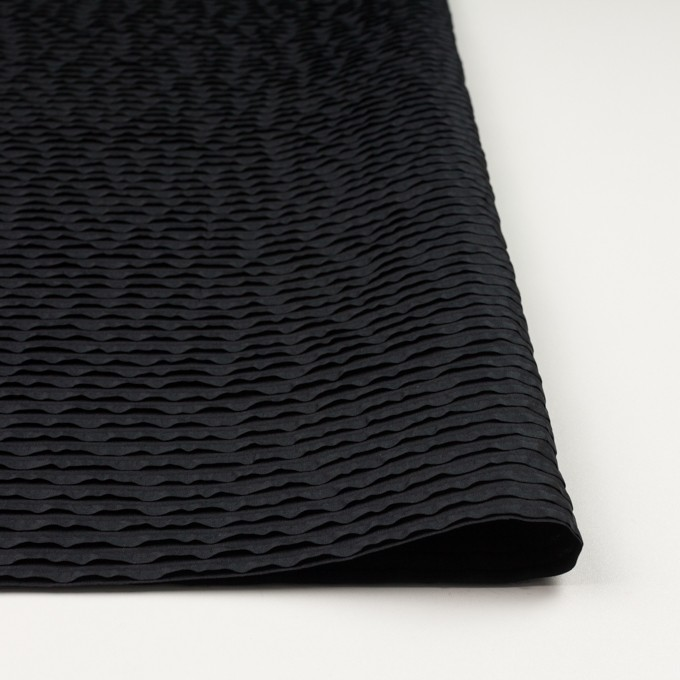 ナイロン&シルク×ボーダー(ブラック)×ピンタックタフタ_全2色 イメージ3