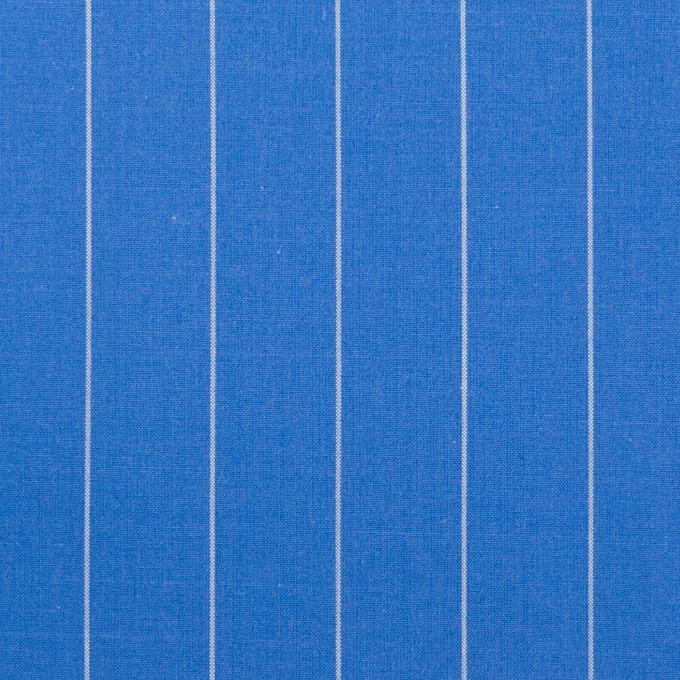 コットン×ストライプ(ゼニスブルー)×ブロード イメージ1