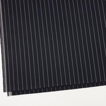 コットン&ポリウレタン×ストライプ(ブラック)×サージストレッチ サムネイル2