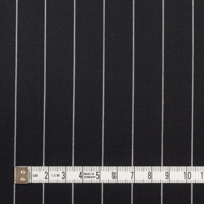 コットン&ポリウレタン×ストライプ(ブラック)×サージストレッチ イメージ4