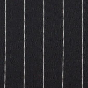コットン&ポリウレタン×ストライプ(ブラック)×サージストレッチ サムネイル1