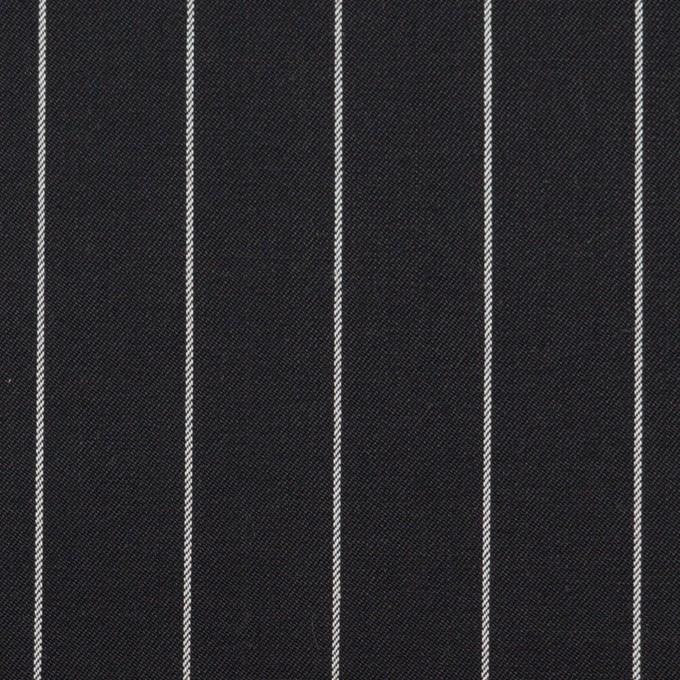 コットン&ポリウレタン×ストライプ(ブラック)×サージストレッチ イメージ1