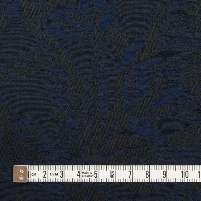 コットン×ボタニカル(ネイビー&ダークネイビー)×ジャガード イメージ4