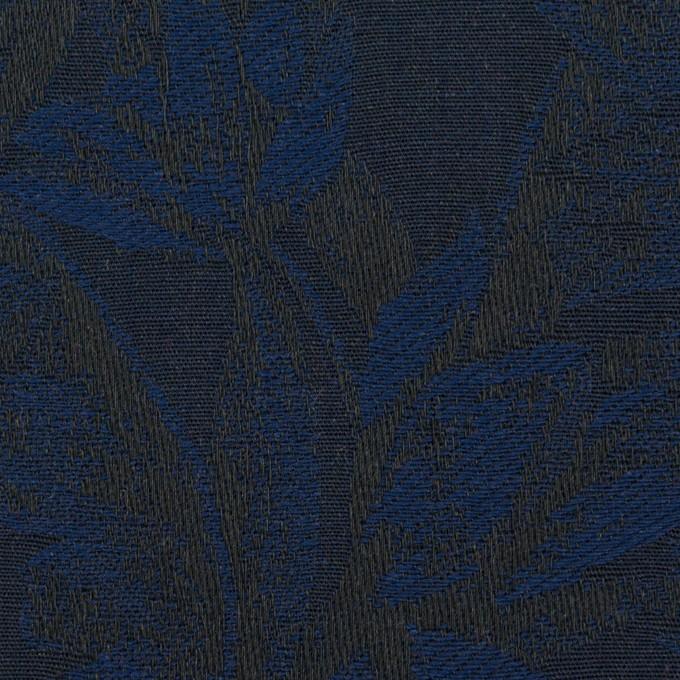 コットン×ボタニカル(ネイビー&ダークネイビー)×ジャガード イメージ1
