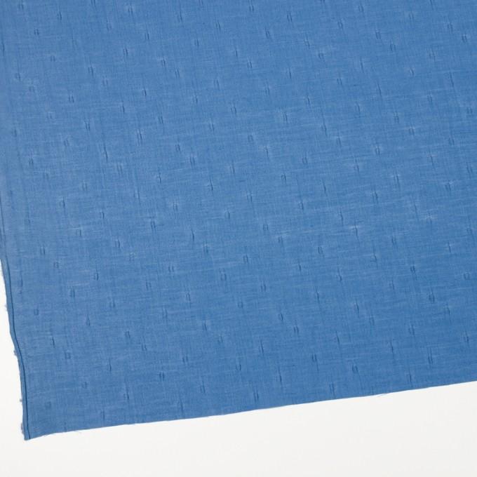 キュプラ&コットン×無地(ゼニスブルー)×ボイルジャガード_イタリア製 イメージ2
