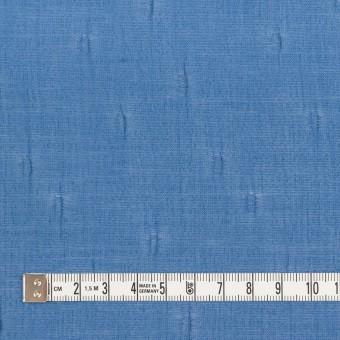 キュプラ&コットン×無地(ゼニスブルー)×ボイルジャガード_イタリア製 サムネイル4