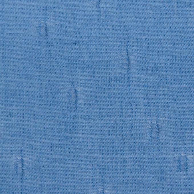 キュプラ&コットン×無地(ゼニスブルー)×ボイルジャガード_イタリア製 イメージ1