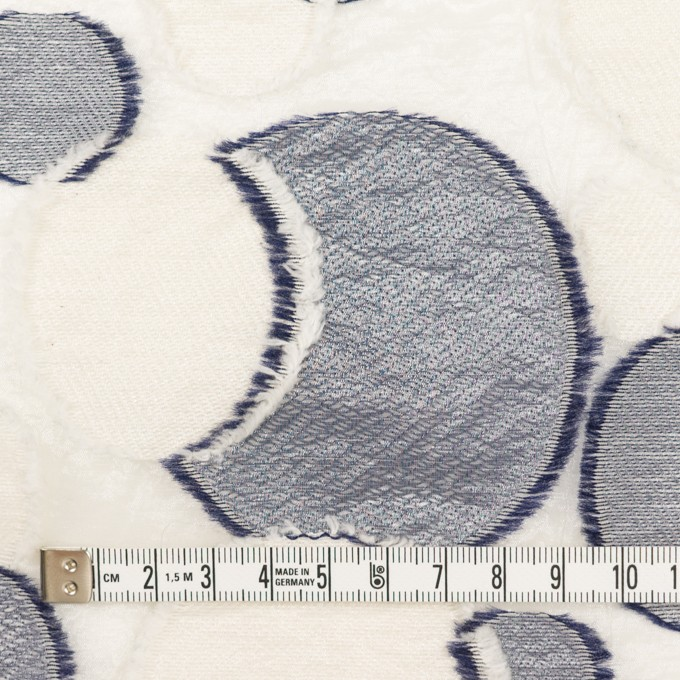 ナイロン&レーヨン混×サークル(ミルキーホワイト&ネイビー)×オーガンジー・カットジャガード イメージ4