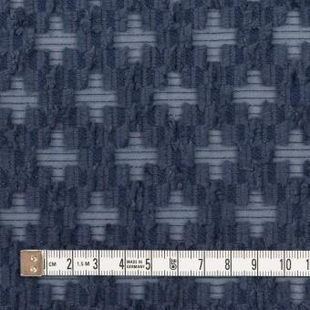 コットン&ナイロン×幾何学模様(アッシュネイビー)×オーガンジー・カットジャガード サムネイル4