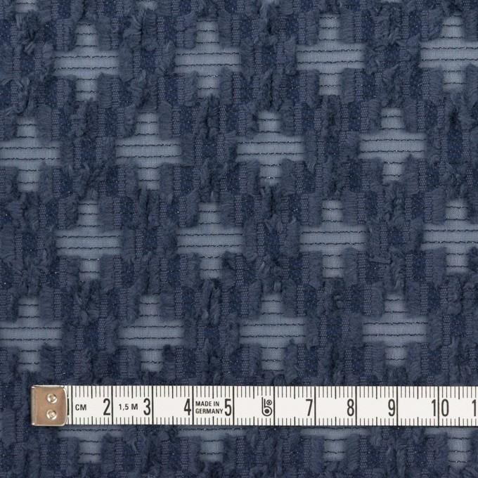 コットン&ナイロン×幾何学模様(アッシュネイビー)×オーガンジー・カットジャガード イメージ4