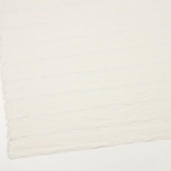 コットン&ナイロン×ボーダー(ミルキーホワイト)×オーガンジー・ジャガード_全2色 サムネイル2