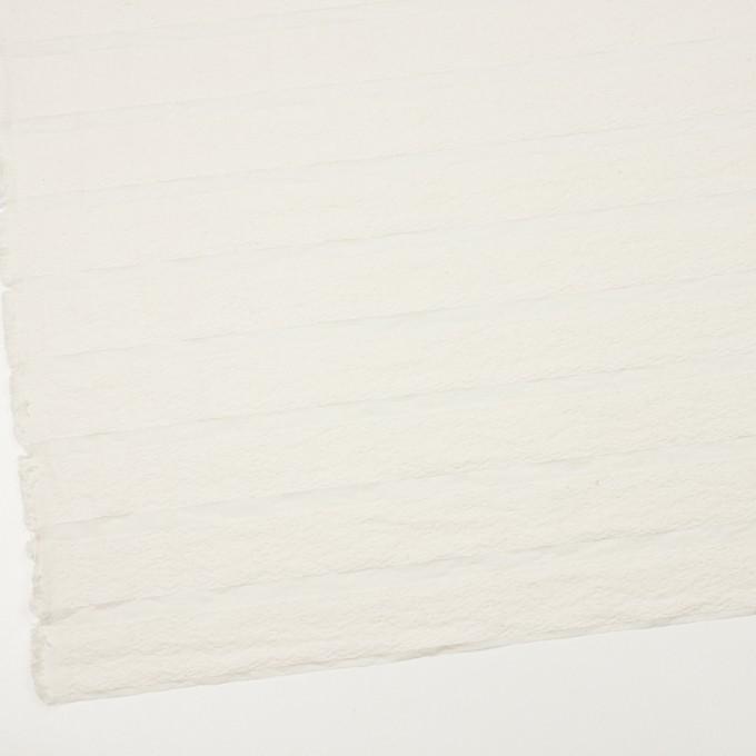 コットン&ナイロン×ボーダー(ミルキーホワイト)×オーガンジー・ジャガード_全2色 イメージ2