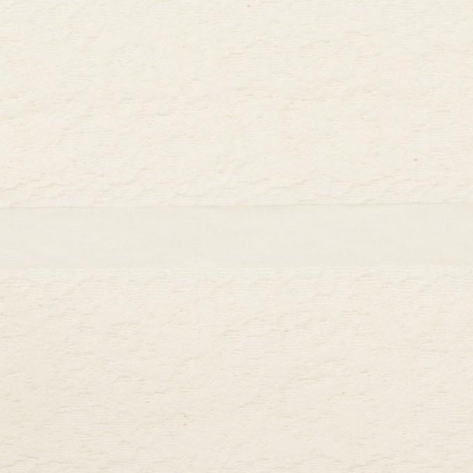 コットン&ナイロン×ボーダー(ミルキーホワイト)×オーガンジー・ジャガード_全2色 イメージ1