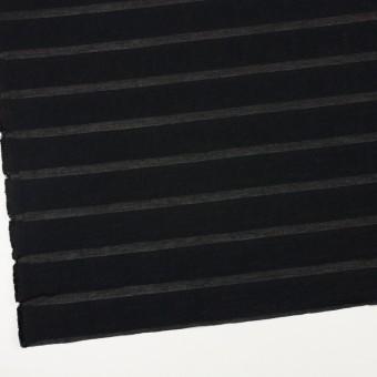 コットン&ナイロン×ボーダー(ブラック)×オーガンジー・ジャガード_全2色 サムネイル2