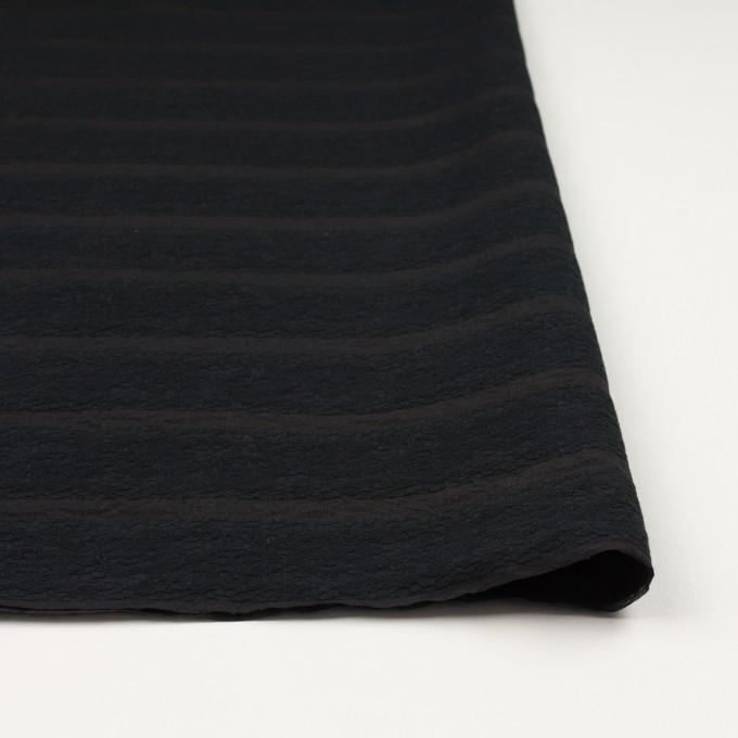 コットン&ナイロン×ボーダー(ブラック)×オーガンジー・ジャガード_全2色 イメージ4