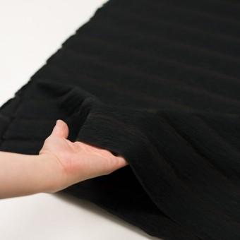 コットン&ナイロン×ボーダー(ブラック)×オーガンジー・ジャガード_全2色 サムネイル5