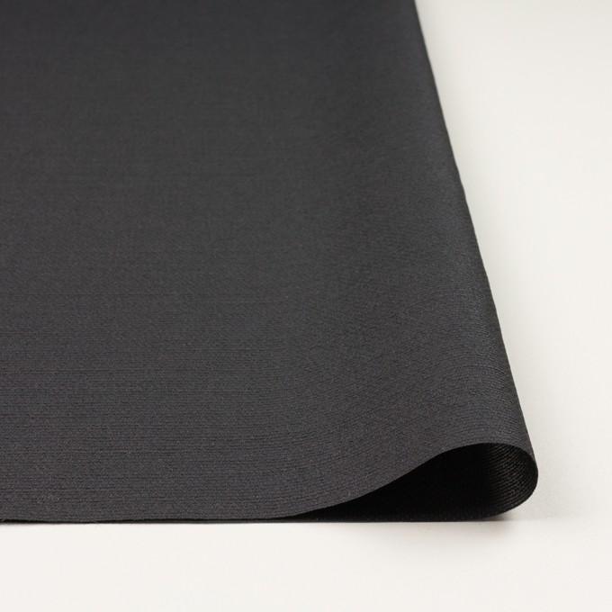 シルク&レーヨン混×無地(チャコール)×オーガンジー・ジャガード イメージ3
