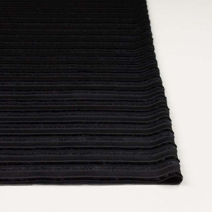 ポリエステル×ボーダー(ブラック)×ジョーゼット・カットジャガード イメージ3