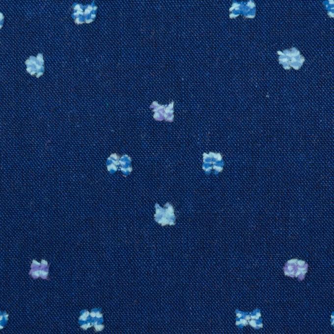コットン×ドット(ネイビー)×シーチング・カットジャガード イメージ1