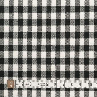 コットン&ポリウレタン×チェック(ブラック)×ポプリンストレッチ サムネイル4