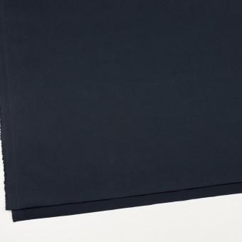 コットン&ポリウレタン×無地(ダークネイビー)×サテンストレッチ_イタリア製 サムネイル2