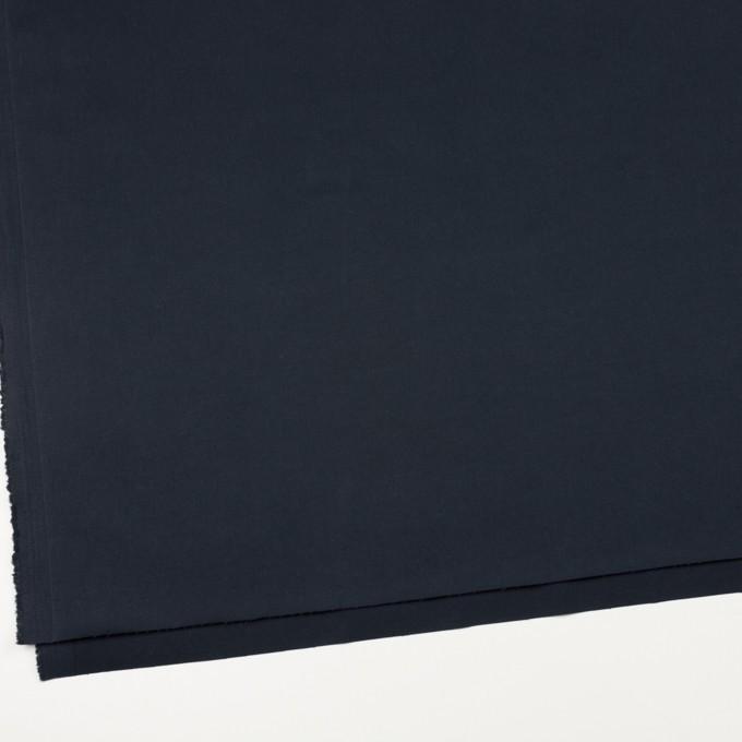 コットン&ポリウレタン×無地(ダークネイビー)×サテンストレッチ_イタリア製 イメージ2