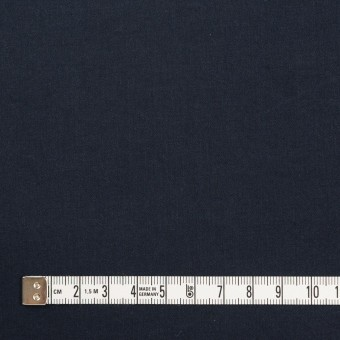 コットン&ポリウレタン×無地(ダークネイビー)×サテンストレッチ_イタリア製 サムネイル4