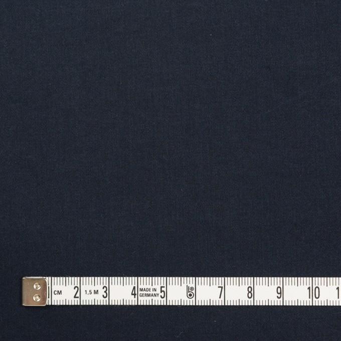 コットン&ポリウレタン×無地(ダークネイビー)×サテンストレッチ_イタリア製 イメージ4