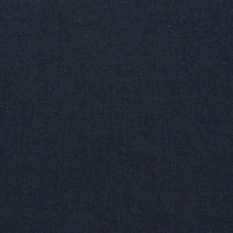 コットン&ポリウレタン×無地(ダークネイビー)×サテンストレッチ_イタリア製 サムネイル1