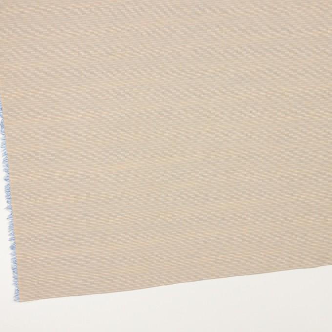 コットン×ボーダー(ベージュ&サックス)×ボイル イメージ2