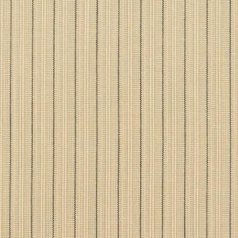 コットン×ストライプ(キナリ、カーキ&ブラック)×かわり織