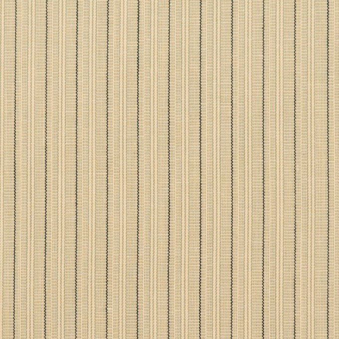 コットン×ストライプ(キナリ、カーキ&ブラック)×かわり織 イメージ1