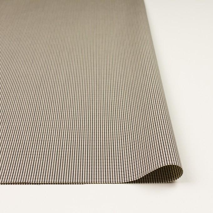 コットン×チェック(キナリ、カーキブラウン&ブラック)×ポプリン イメージ3