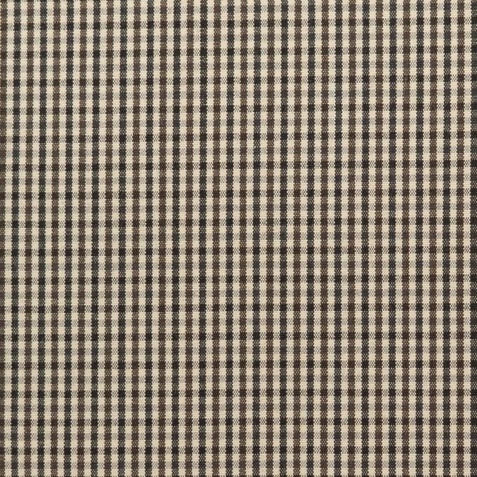 コットン×チェック(キナリ、カーキブラウン&ブラック)×ポプリン イメージ1