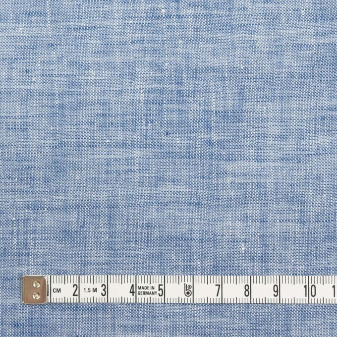 リネン×無地(ブルー)×薄キャンバス・ワッシャー イメージ4