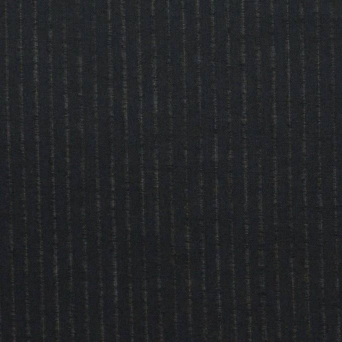 コットン×ストライプ(ブラック)×ブロード_全2色 イメージ1