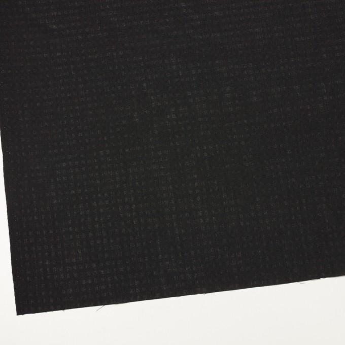 ポリエステル&コットン×チェック(ブラック)×ボイル イメージ2