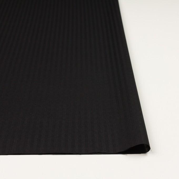 ポリエステル&コットン×チェック(ブラック)×ボイル イメージ3