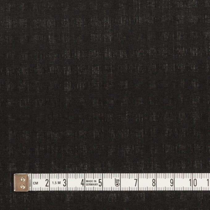 ポリエステル&コットン×チェック(ブラック)×ボイル イメージ4