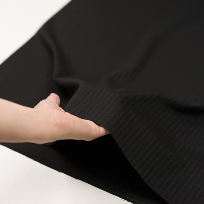 ポリエステル&コットン×チェック(ブラック)×ボイル イメージ5