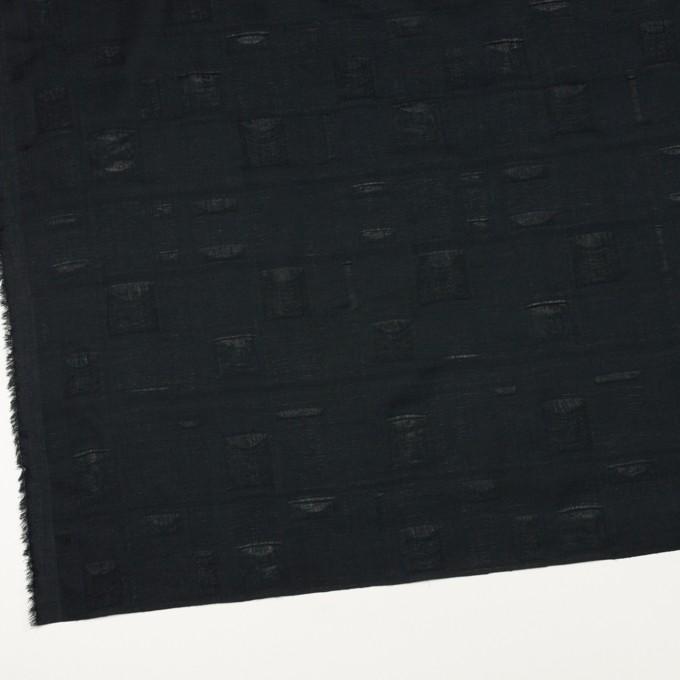 コットン×チェック(ブラック)×二重織ジャガード イメージ2