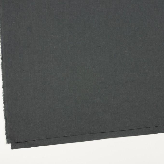 リネン&コットン×無地(チャコールグレー)×シーチング_全36色 イメージ2