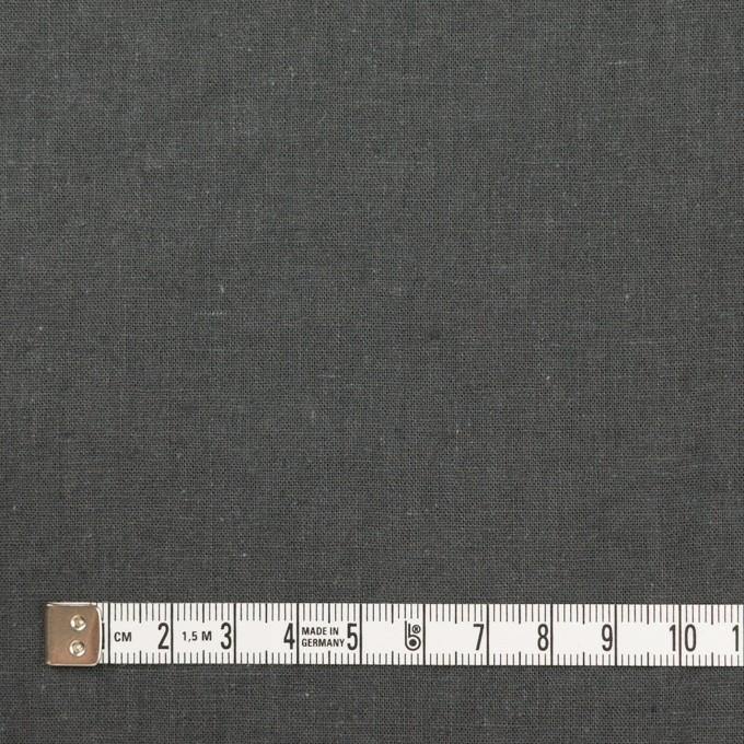 リネン&コットン×無地(チャコールグレー)×シーチング_全36色 イメージ4